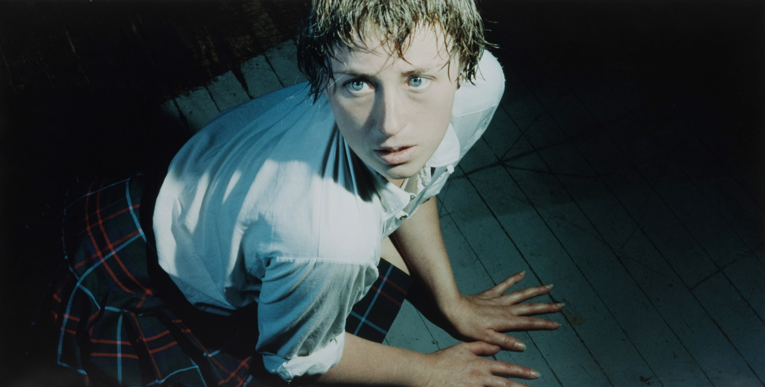 Here Cindy plays on the stigma of how women are helpless Cindy Sherman Centrefolds