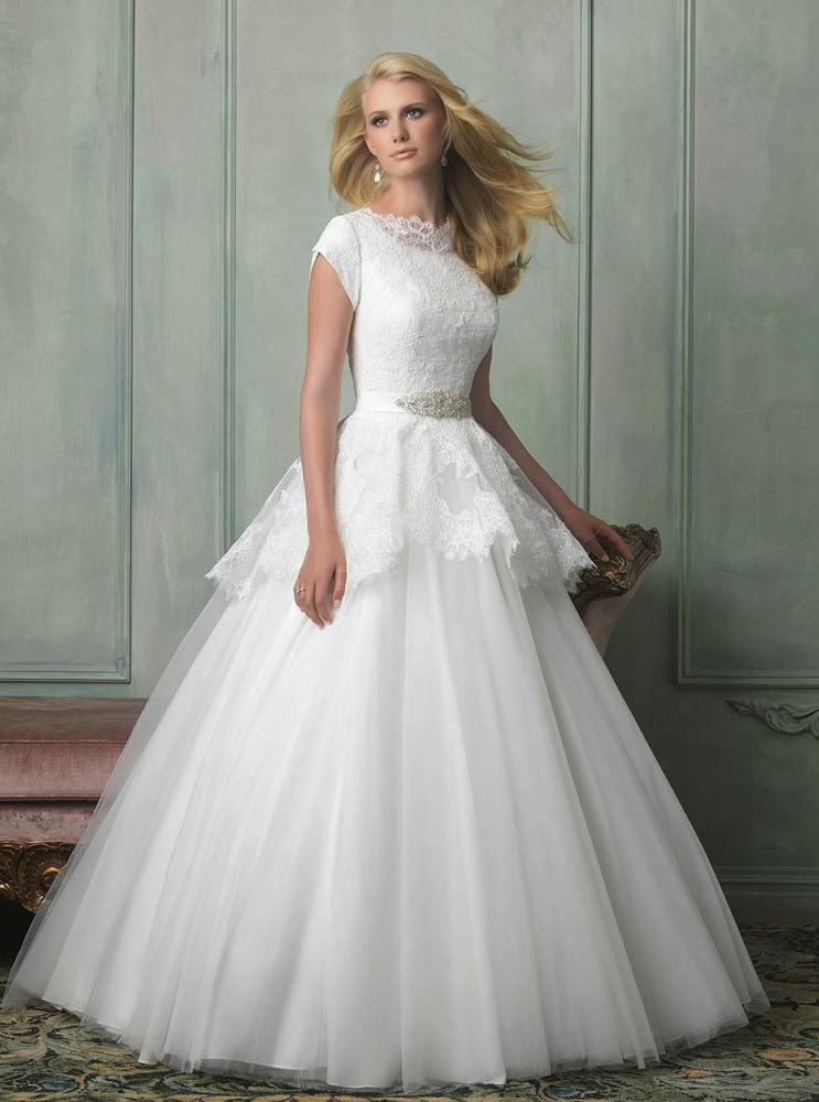 Satin Ball Gown Wedding Dresses Cap Sleeves Allure Design pictures hd