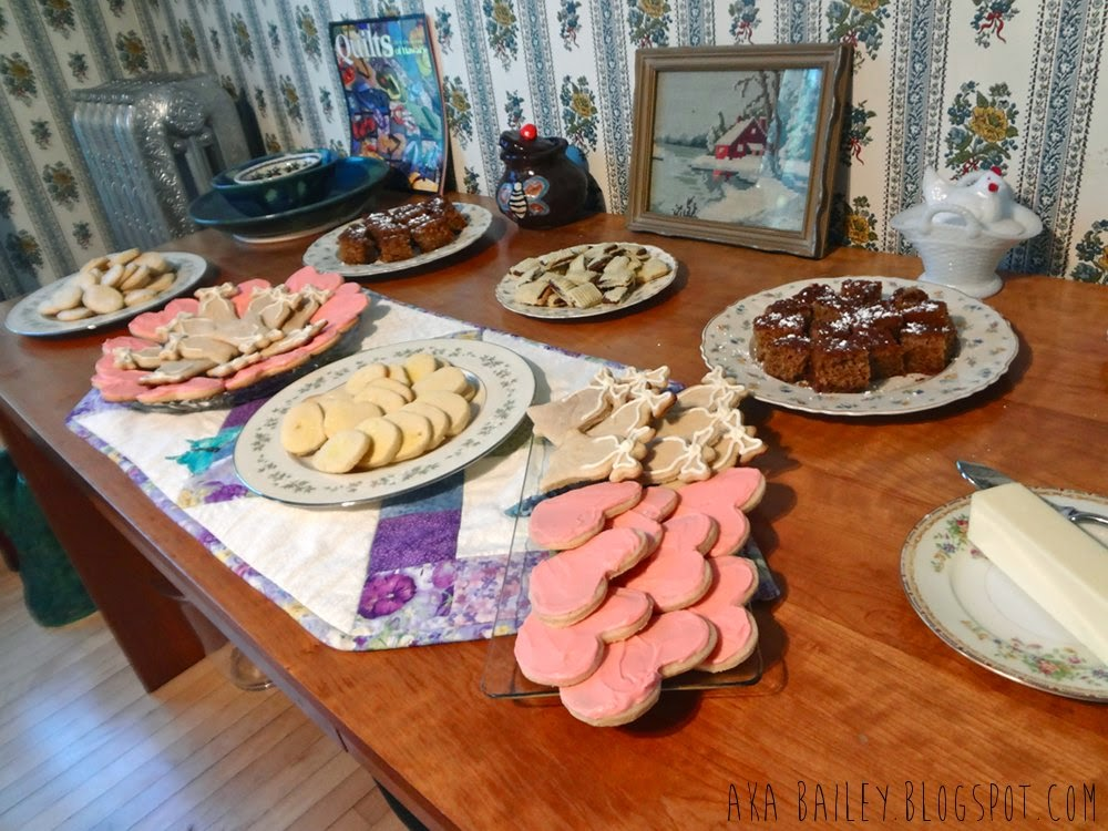 Sugar cookies and desserts at the bridal brunch