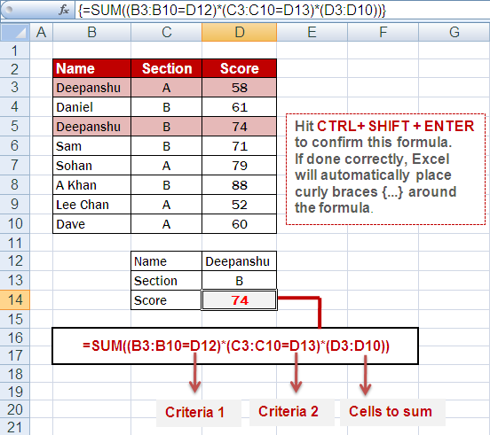 c how to find sum and product of array