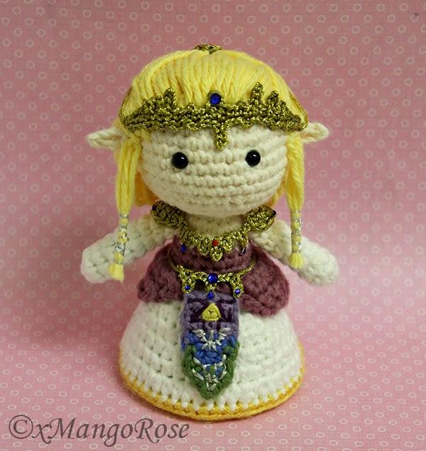 Amigurumi Zelda : xMangoRose: Princess Zelda Amigurumi Crochet Doll