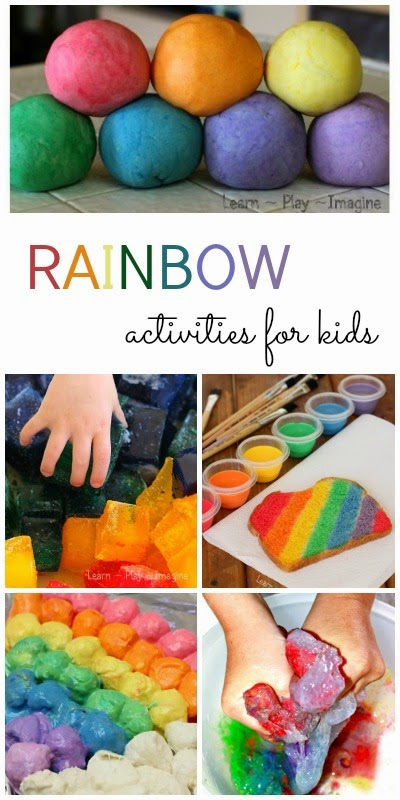 21 rainbow activities for kids including art, sensory play, science, and more!
