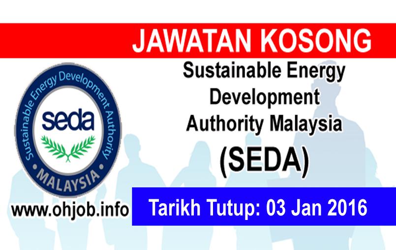 Jawatan Kerja Kosong Sustainable Energy Development Authority Malaysia (SEDA) logo www.ohjob.info januari 2016