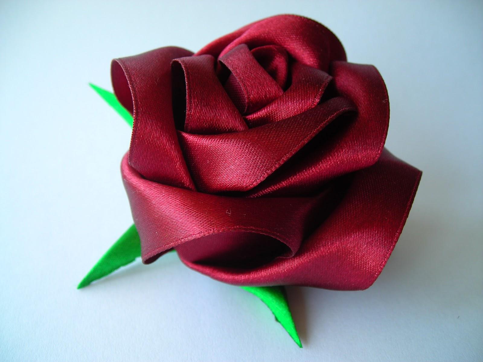 Цветок из ленты 2.5 см своими руками мастер класс видео