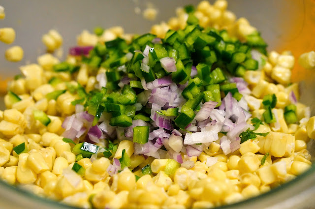 Philadelphia, onion, pepper, chili corn salsa