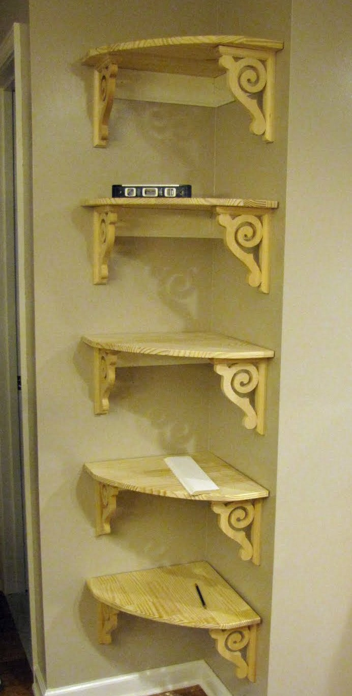 Seven sisters honey i these corner shelves Corner shelf ideas