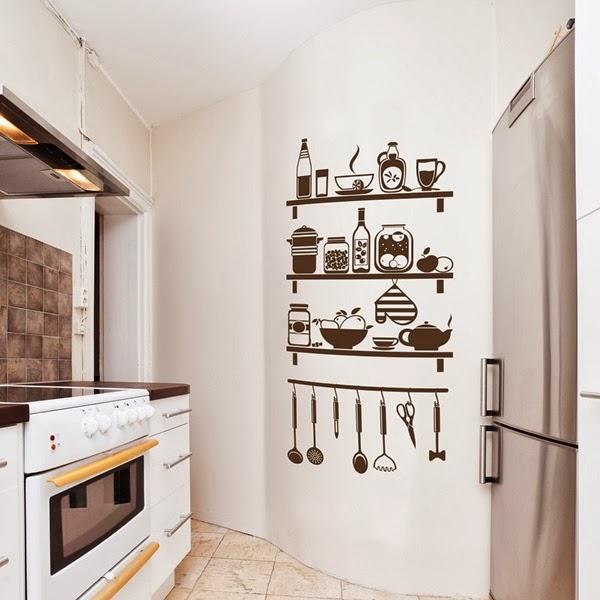 Papel pintado vinilos decorativos cocina for Vinilos pared cocina