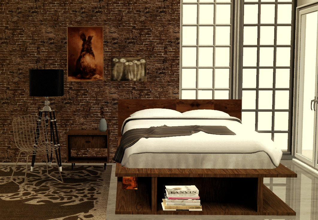 My Sims 3 Blog Rustic Bedroom Set By MarcusSims91