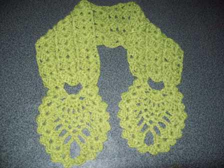 tejido crochet de ana: CUELLO CON PUNTO PIÑA
