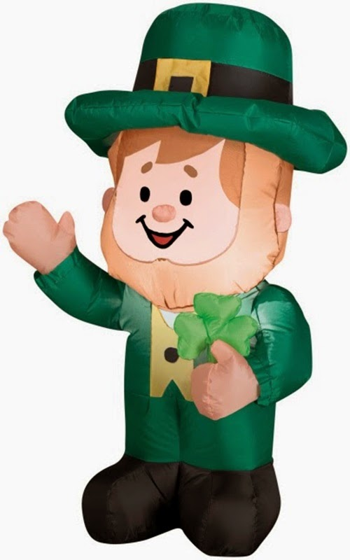 3 Foot Airblown St. Patrick's Day Leprechaun Inflatable