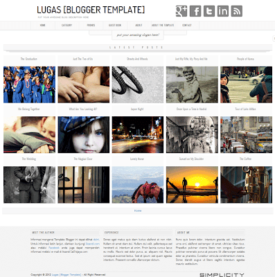 Lugas Photo Blogger Template