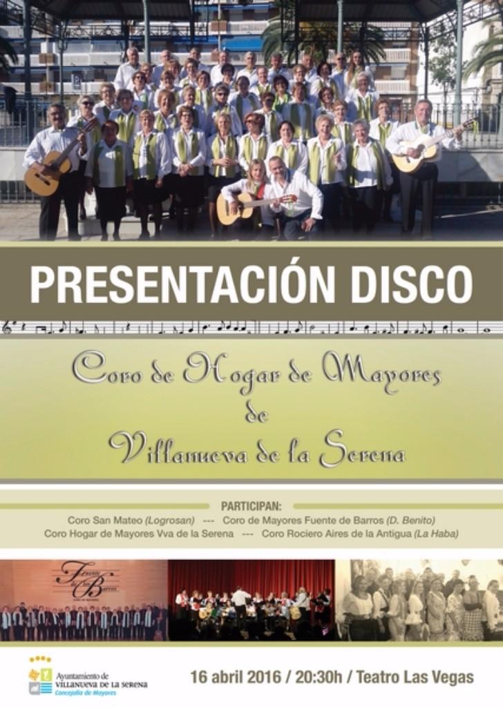 Presentación disco Coro de Mayores