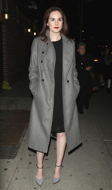 Actress, Singer, @ Michelle Dockery - Arriving to The Late Show with Stephen Colbert in NYC