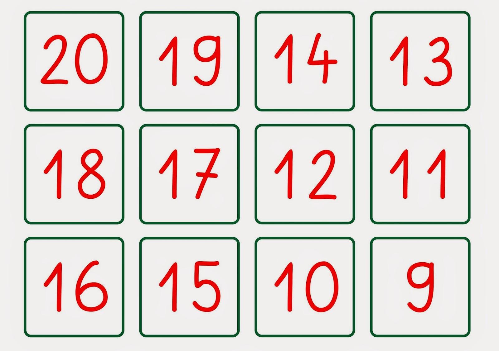 Lernstu00fcbchen: die Zahlen von 10 bis 20 noch einmal anders