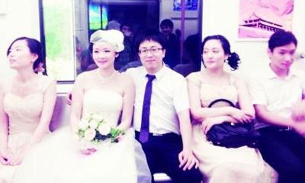 pernikahan di dalam kereta bawah tanah