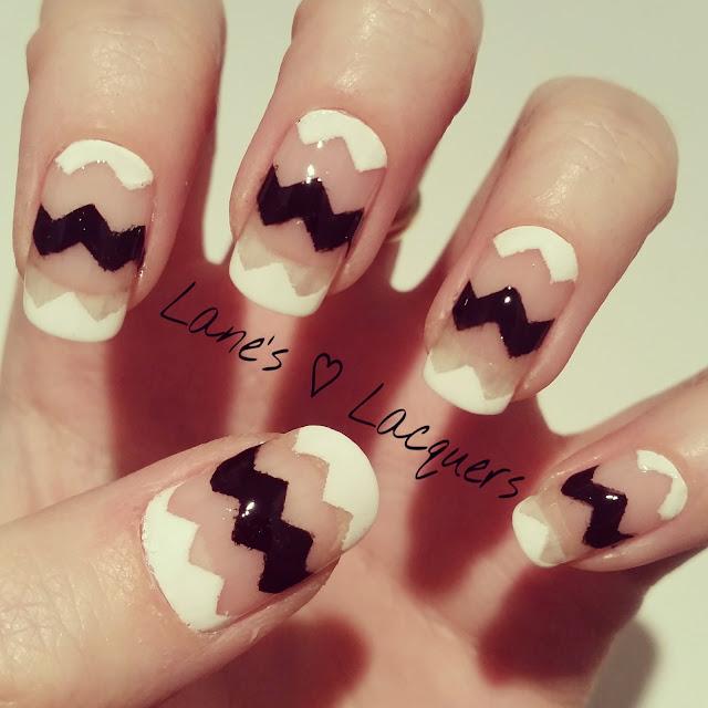 40-great-nail-art-ideas-black-and-white-chevron-negative-space-manicure (1)