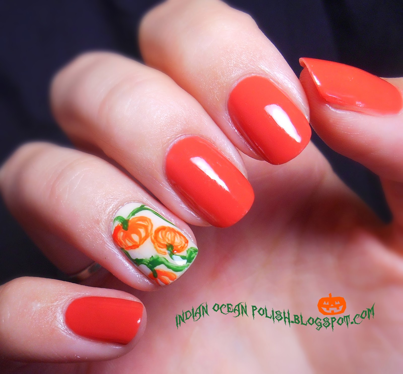 Halloween Nail Art: Indian Ocean Polish: A Few Halloween Nail Art Ideas For 2013