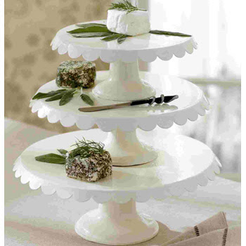 Enamel White Cake Stands