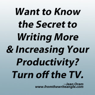 Want to know the secret to writing more and increasing your productivity? Turn off the TV. By Jean Oram