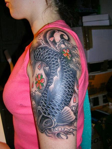 Charming Koi Fish Tattoo