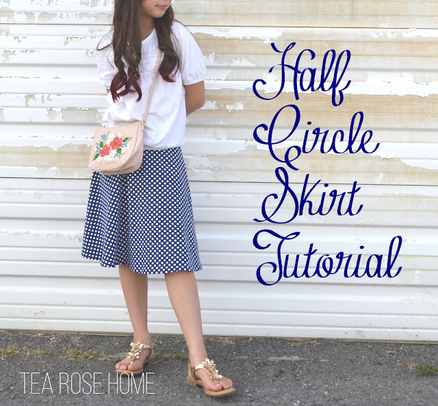 Tutorial~ Half Circle Skirt {Skirting the Issue}