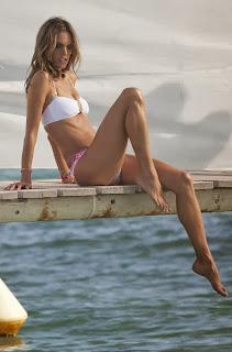 Alessandra Ambrosio White Bikini Saint Tropez