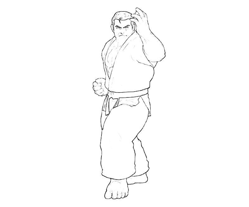 printable-king-of-fighters-takuma-sakazaki-skill-coloring-pages