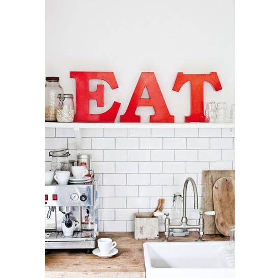 letras para decorar la cocina