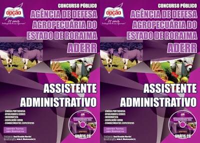 Apostila Concurso Público ADERR 2014 Assistente Administrativo Nível Médio