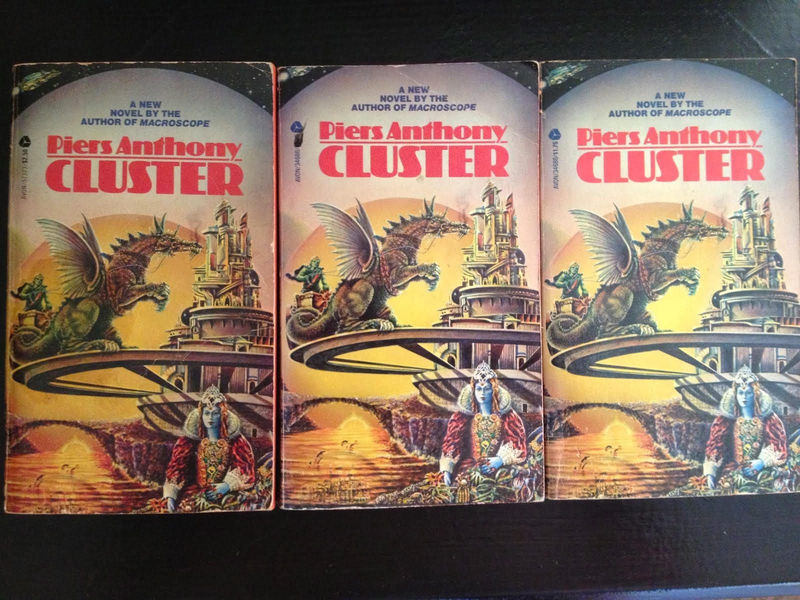 Three copies of Cluster-