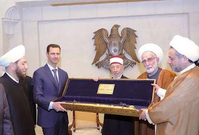 Memorial: Presiden Al-Assad Bersama Syeikh Al-Buthi dan Ulama Suriah