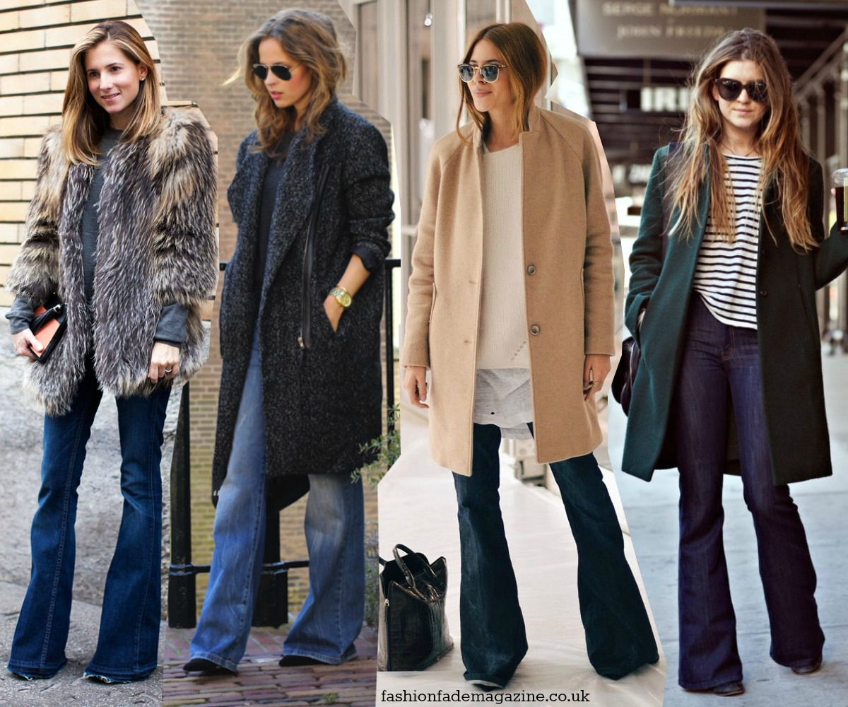 ways-to-wear-flares-trend-fall-winter-2014-2015-streetstyle-outfits-looks-flares-flared-jeans-pants-trousers-dark-wash