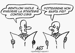 Gentiloni, ISIS, vignetta, satira