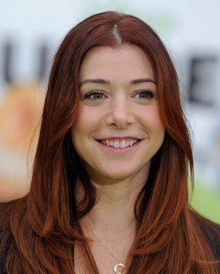 Alyson Hannigan Long Center Part Hairstyle