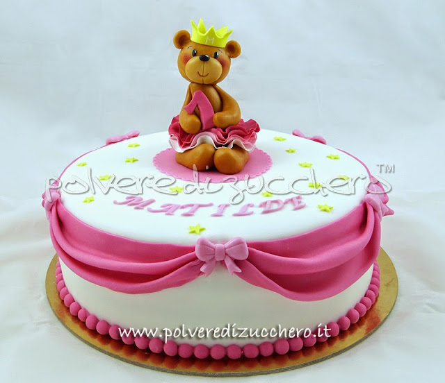 tutorial cake design orso: orsetta principessa in pasta di zucchero