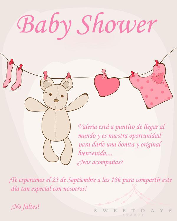 Baby Shower Kort Text ~ Sweetdays events para una personita muy especial