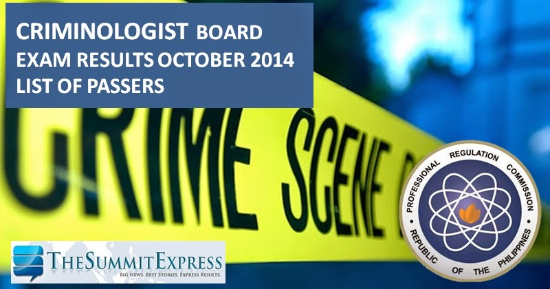 12,245 pass November 2014 Criminology board exam (I-Z Surname)