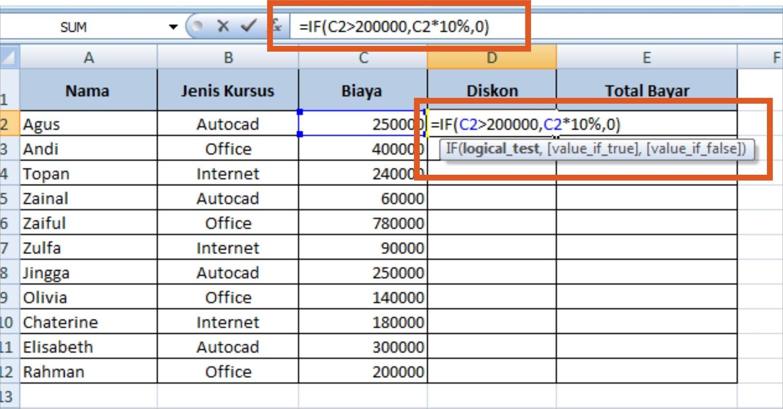 Fungsi IF dalam Microsoft Excel | Belajar Microsoft Office ...