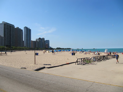 Oak beach, playas de Chicago, lago Michigan