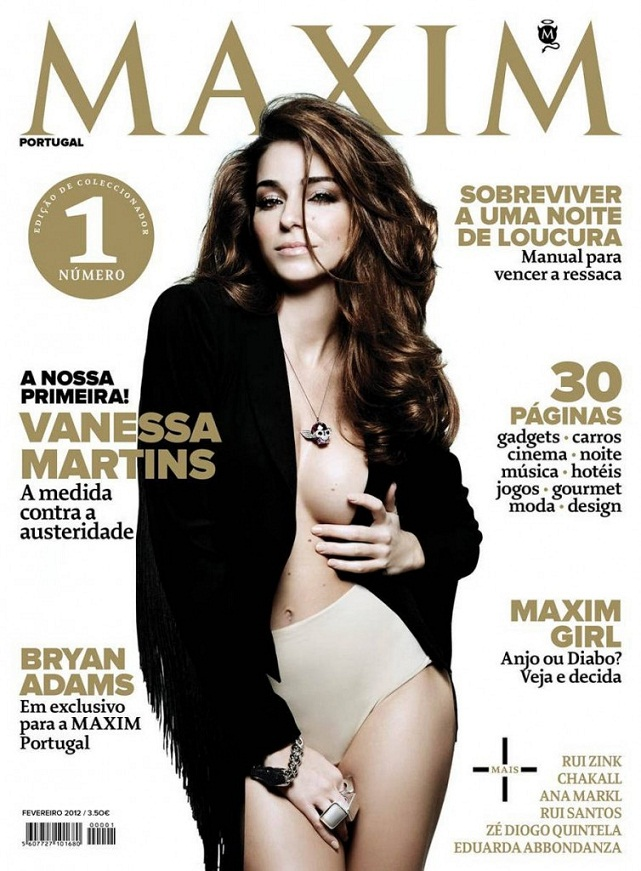 Vanessa Martins poses for Maxim Portugal February 2012