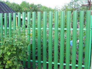 Забор штакетник из профлиста. Фото 9
