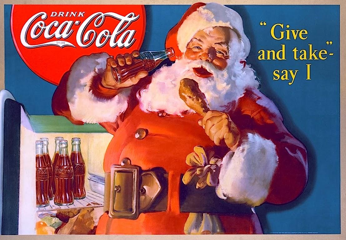 Vintage Coca Cola Santa Claus Ad Merry Christmas Snaxtime