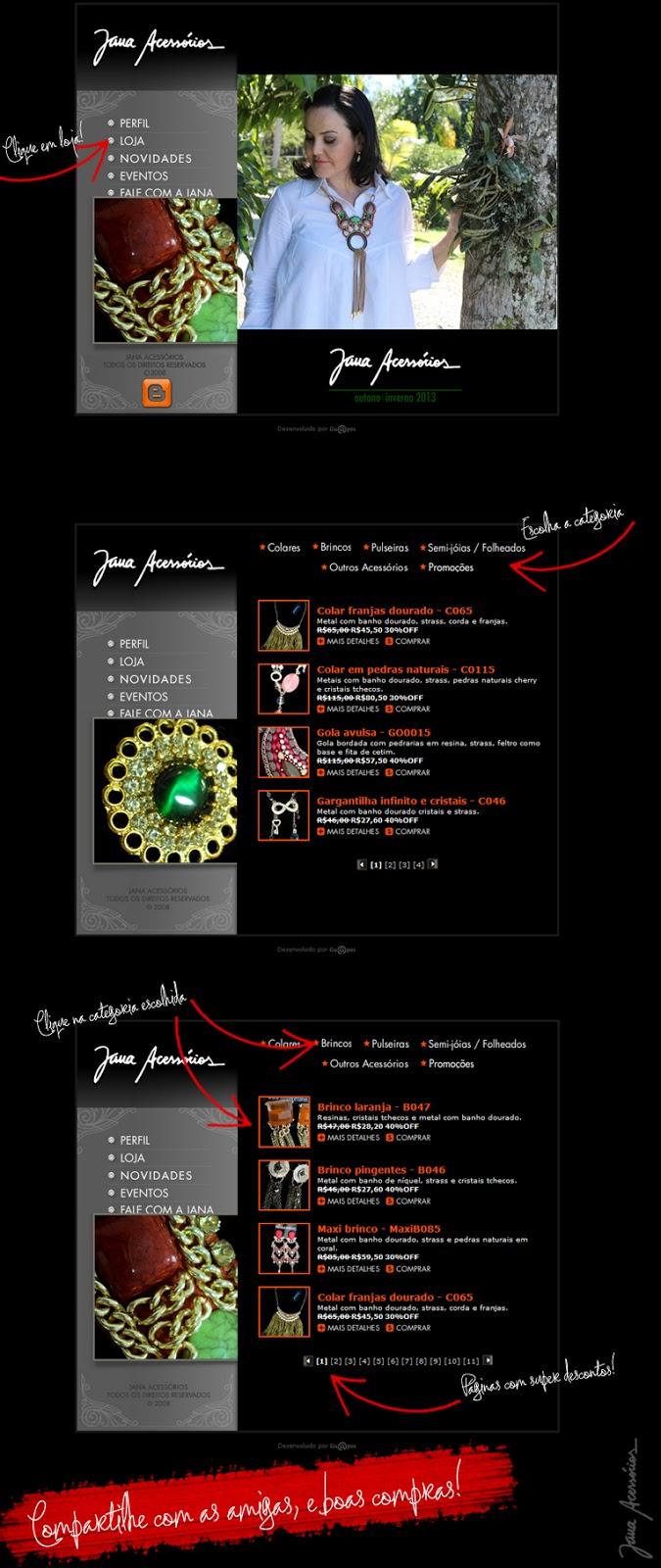 Acessórios, bijoux