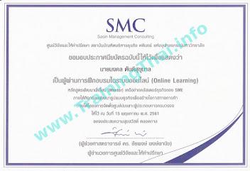 ประกาศนียบัตร ที่ปรึกษาธุรกิจ SMEs
