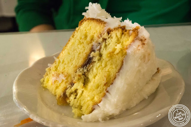 image of coconut cake at Sylvia's in Harlem, NYC, New York