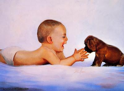niños-pintados-oleo