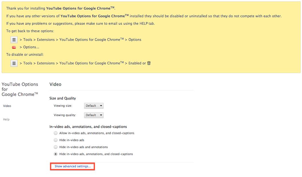 Youtube Options for Google Chrome設定術1:ESETセキュリティブログ
