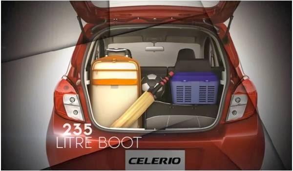 Maruti Suzuki Celerio 235 LITRE luggage space