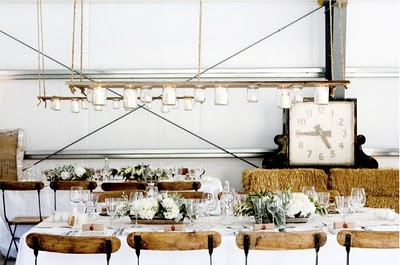 mason jar chandelier rustic wedding