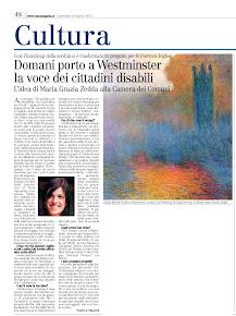 Domani porto a Westminster la voce dei cittadini disabili